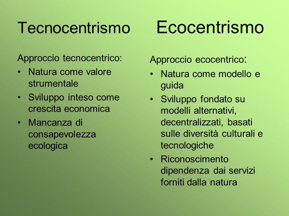 Tecnocentrismo Ecocentrismo