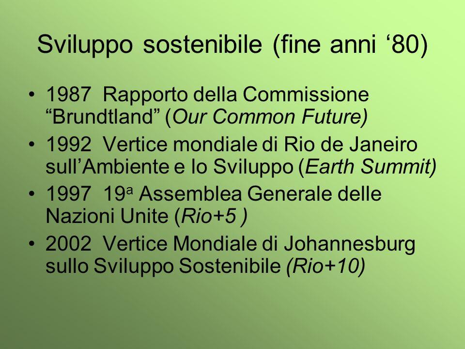 Sviluppo sostenibile (fine anni '80)