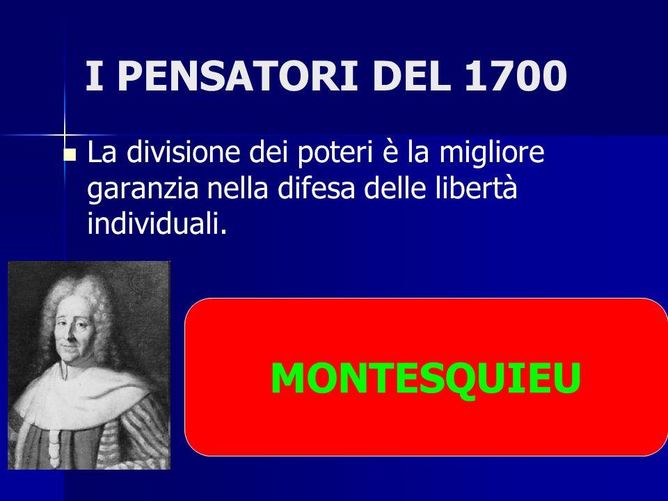 I PENSATORI DEL 1700 MONTESQUIEU