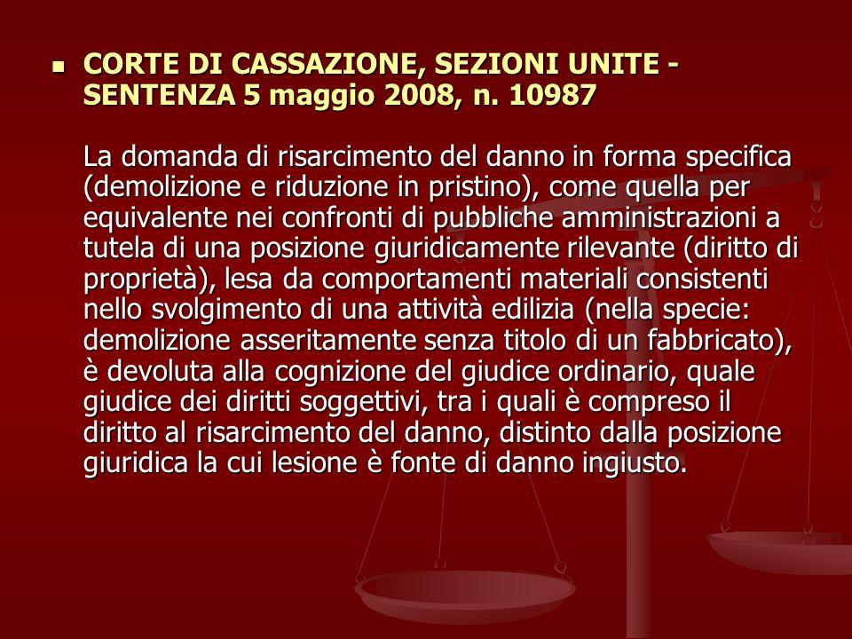CORTE DI CASSAZIONE, SEZIONI UNITE - SENTENZA 5 maggio 2008, n