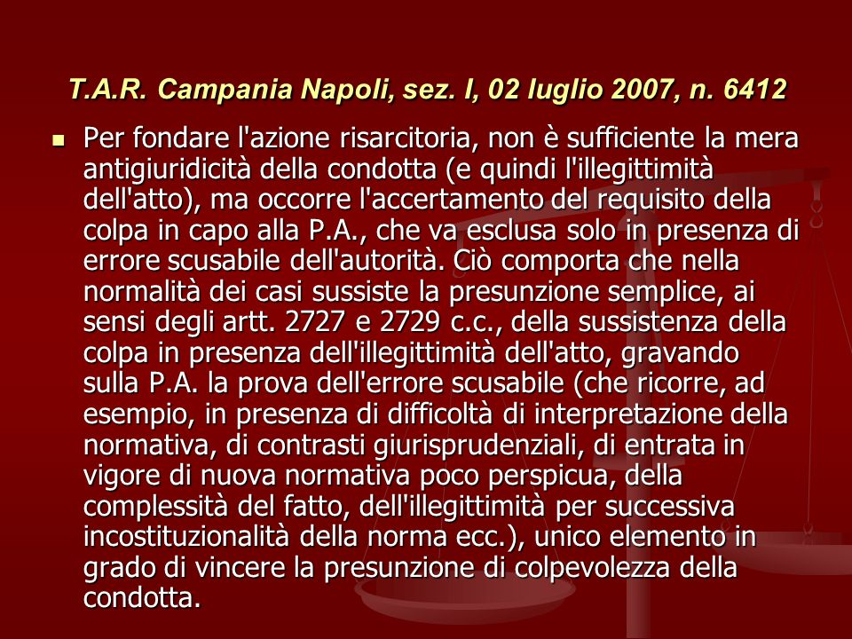 T.A.R. Campania Napoli, sez. I, 02 luglio 2007, n. 6412