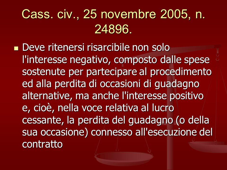 Cass. civ., 25 novembre 2005, n. 24896.