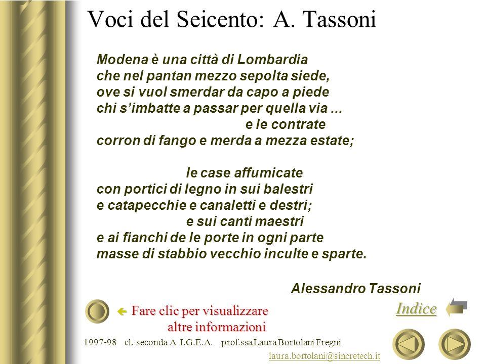 Voci del Seicento: A. Tassoni