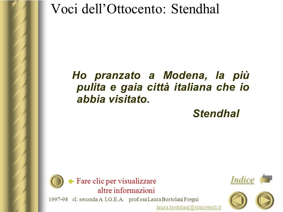 Voci dell'Ottocento: Stendhal
