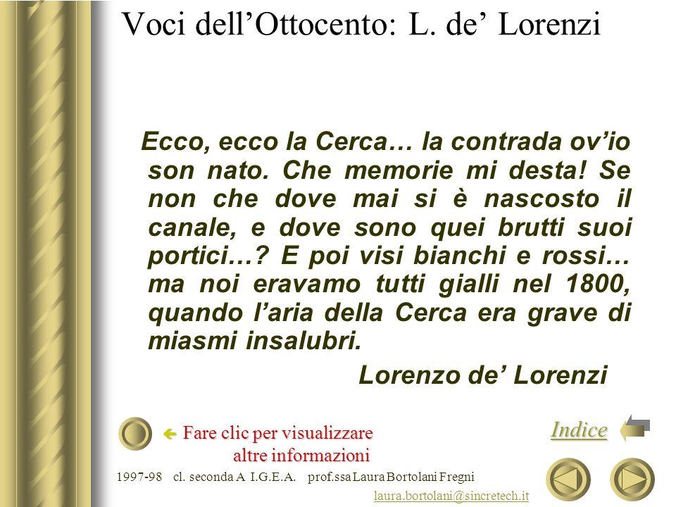 Voci dell'Ottocento: L. de' Lorenzi