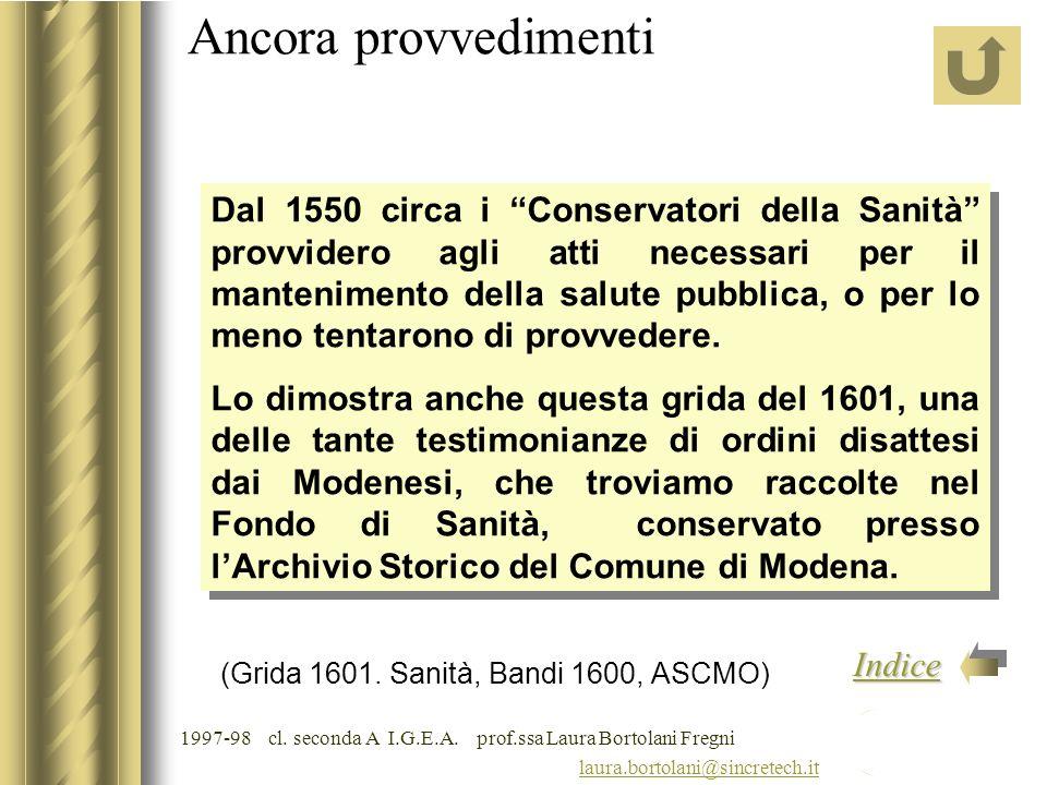 1997-98 cl. seconda A I.G.E.A. prof.ssa Laura Bortolani Fregni