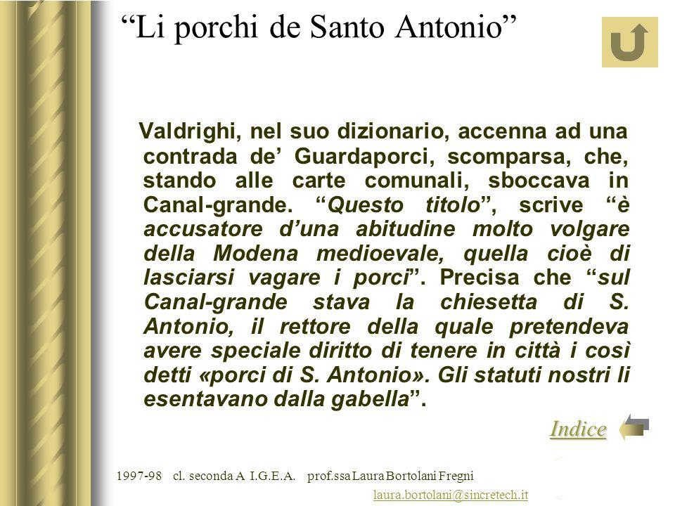 Li porchi de Santo Antonio