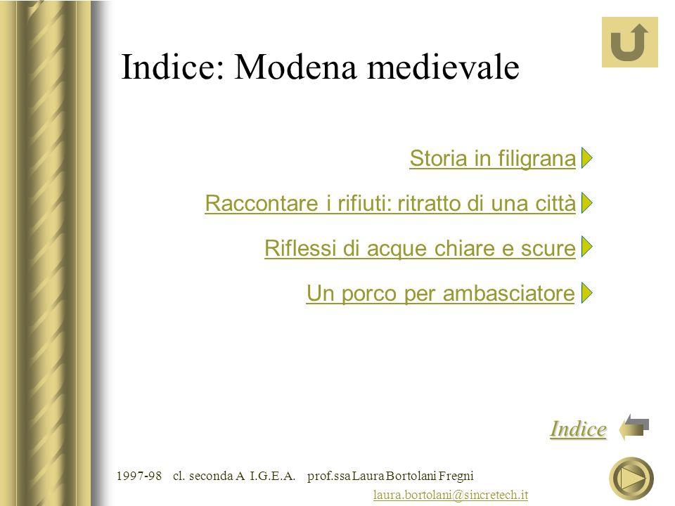 Indice: Modena medievale