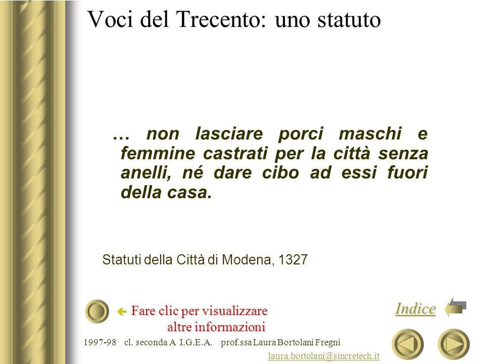 Voci del Trecento: uno statuto