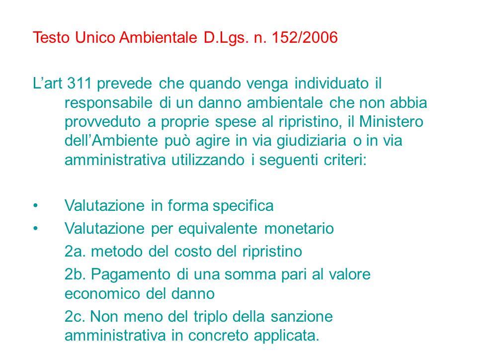 Testo Unico Ambientale D.Lgs. n. 152/2006