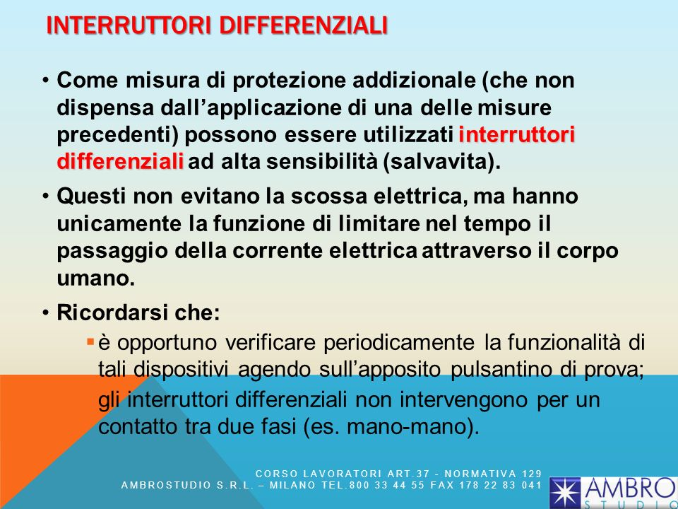 Interruttori differenziali