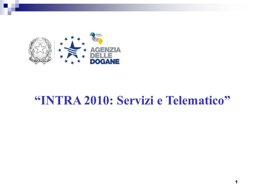 INTRA 2010: Servizi e Telematico