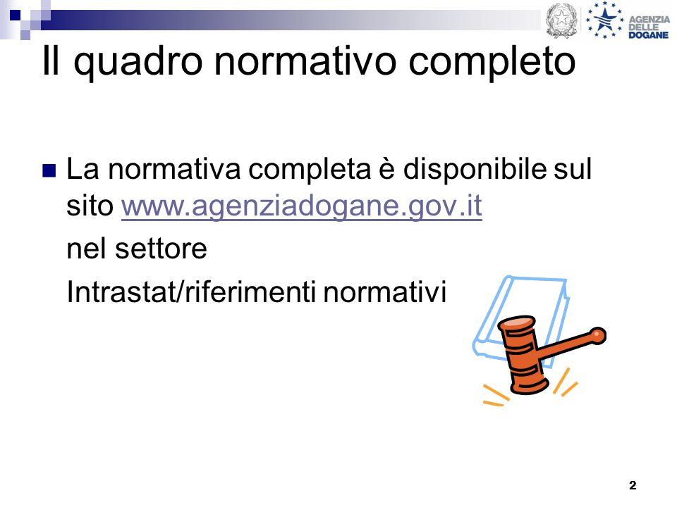 Il quadro normativo completo