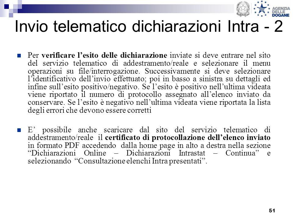 Invio telematico dichiarazioni Intra - 2