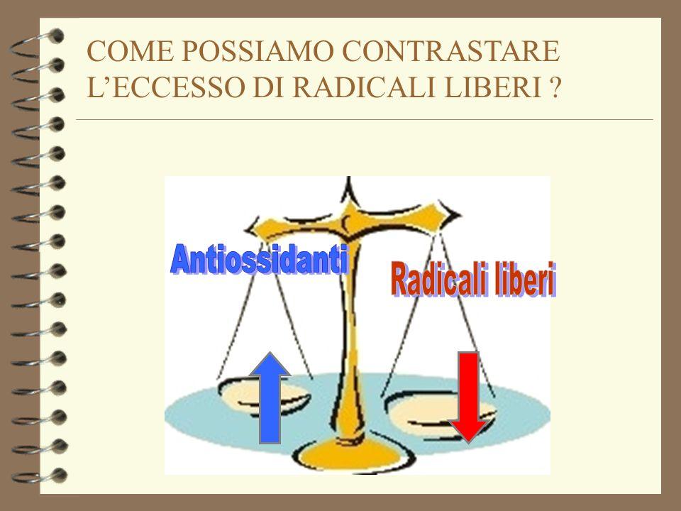Antiossidanti Radicali liberi