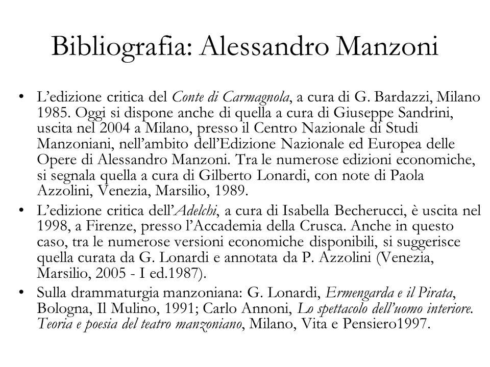 Bibliografia: Alessandro Manzoni