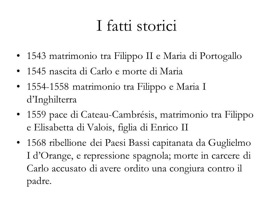 I fatti storici 1543 matrimonio tra Filippo II e Maria di Portogallo