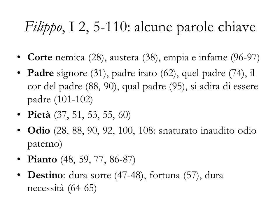 Filippo, I 2, 5-110: alcune parole chiave
