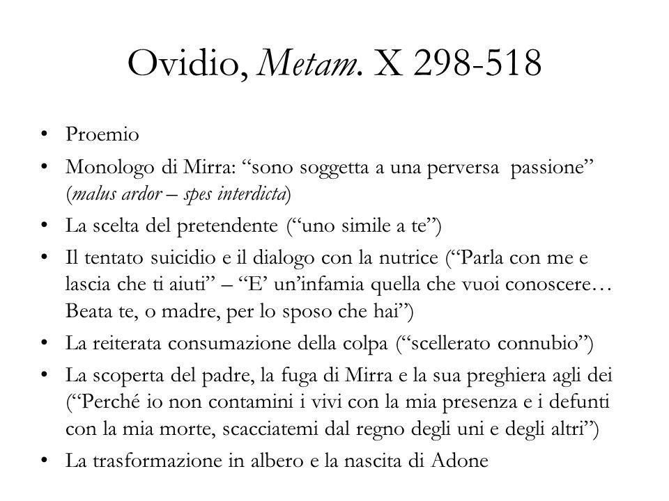Ovidio, Metam. X 298-518 Proemio