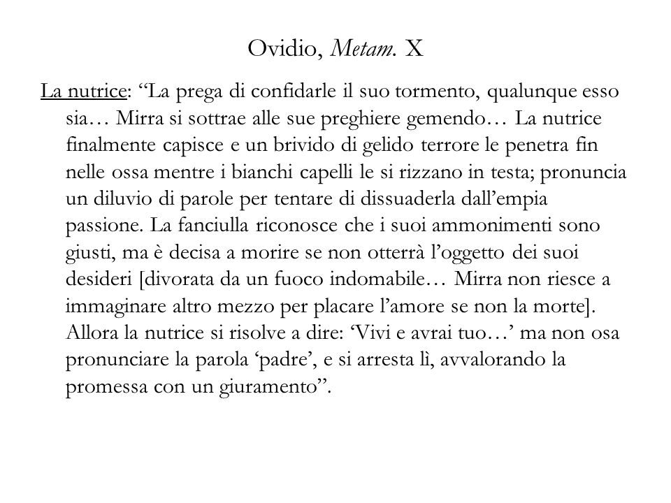 Ovidio, Metam. X