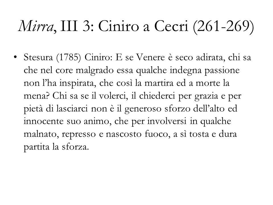 Mirra, III 3: Ciniro a Cecri (261-269)