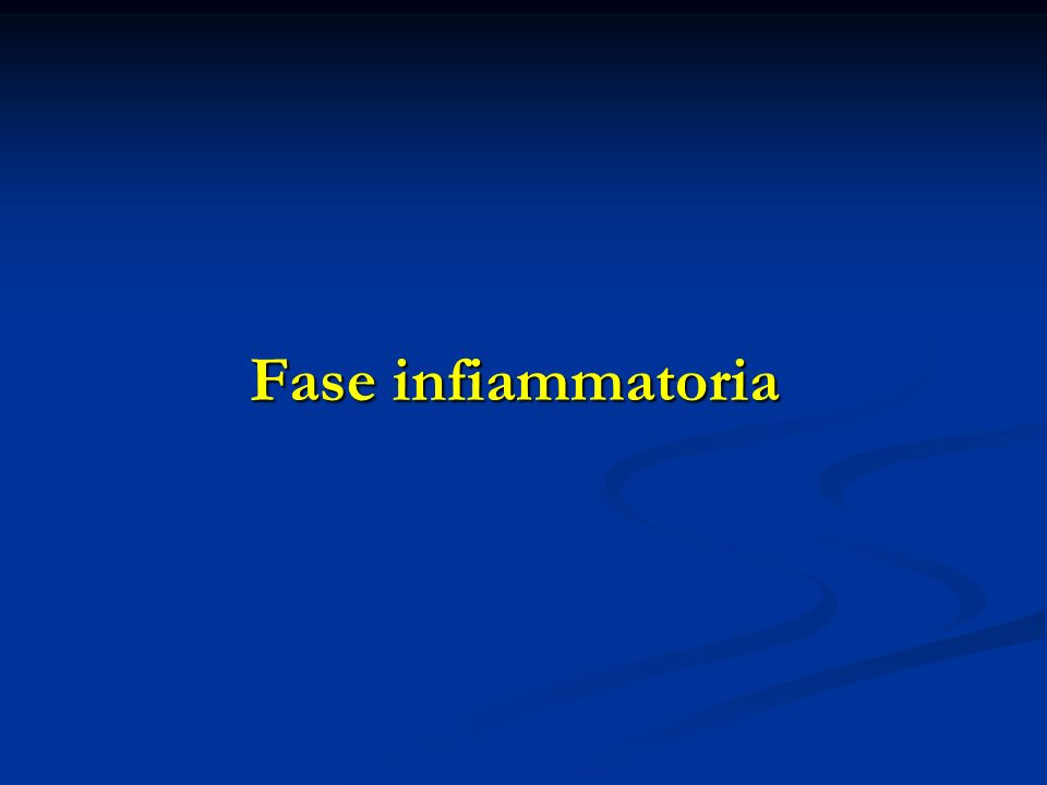 Fase infiammatoria