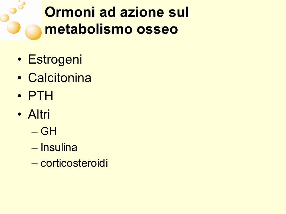 Ormoni ad azione sul metabolismo osseo