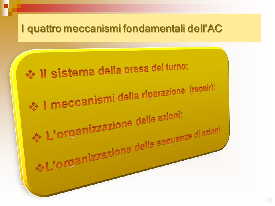 I quattro meccanismi fondamentali dell'AC