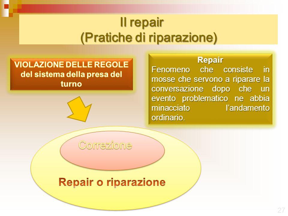Il repair (Pratiche di riparazione)