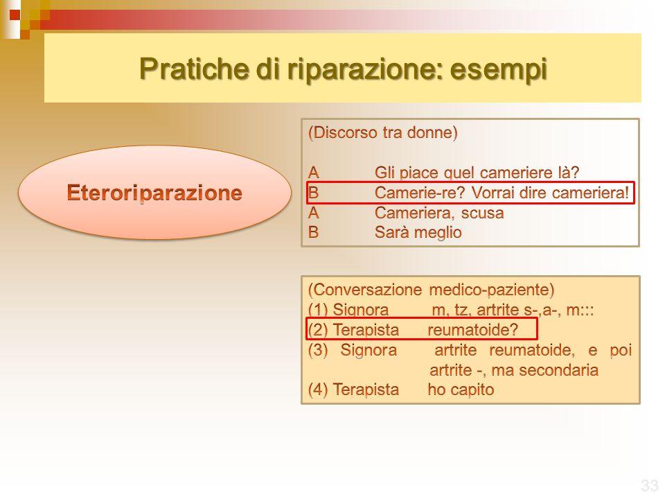 Pratiche di riparazione: esempi