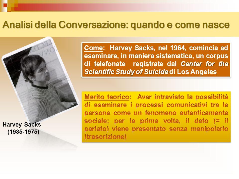 Analisi della Conversazione: quando e come nasce