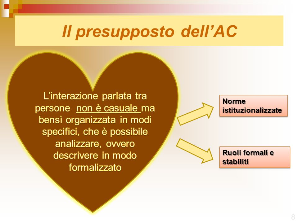 Il presupposto dell'AC