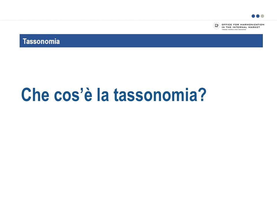 Che cos'è la tassonomia