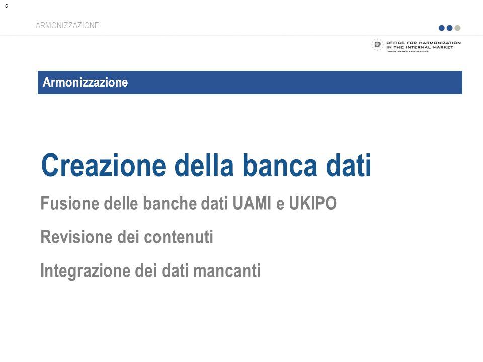 Creazione della banca dati