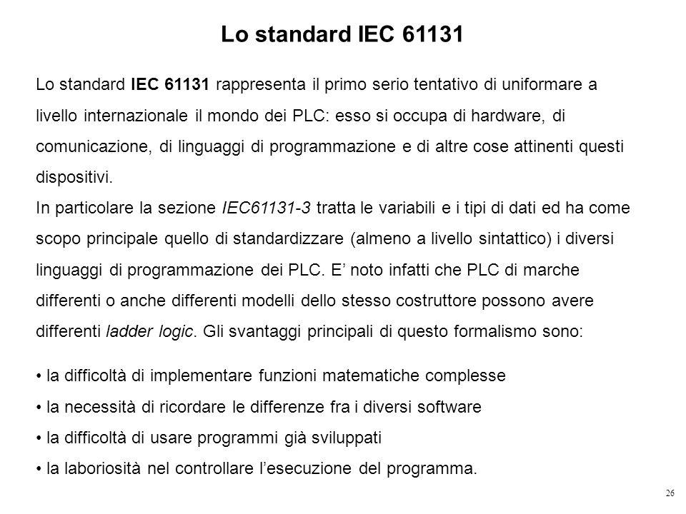 Lo standard IEC 61131