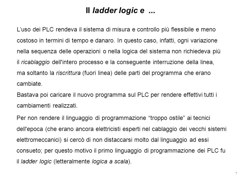 Il ladder logic e ...