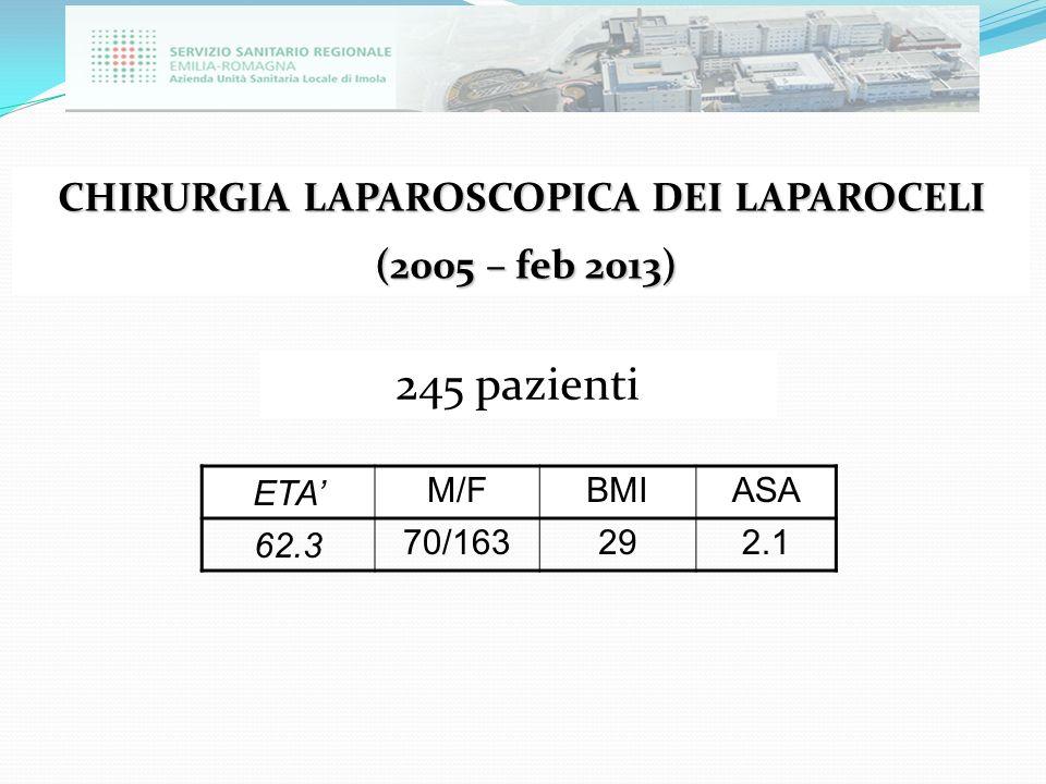 CHIRURGIA LAPAROSCOPICA DEI LAPAROCELI