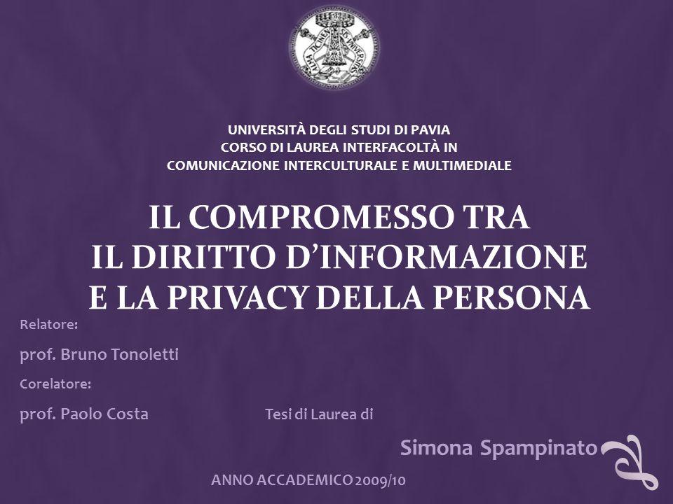 Simona Spampinato prof. Bruno Tonoletti