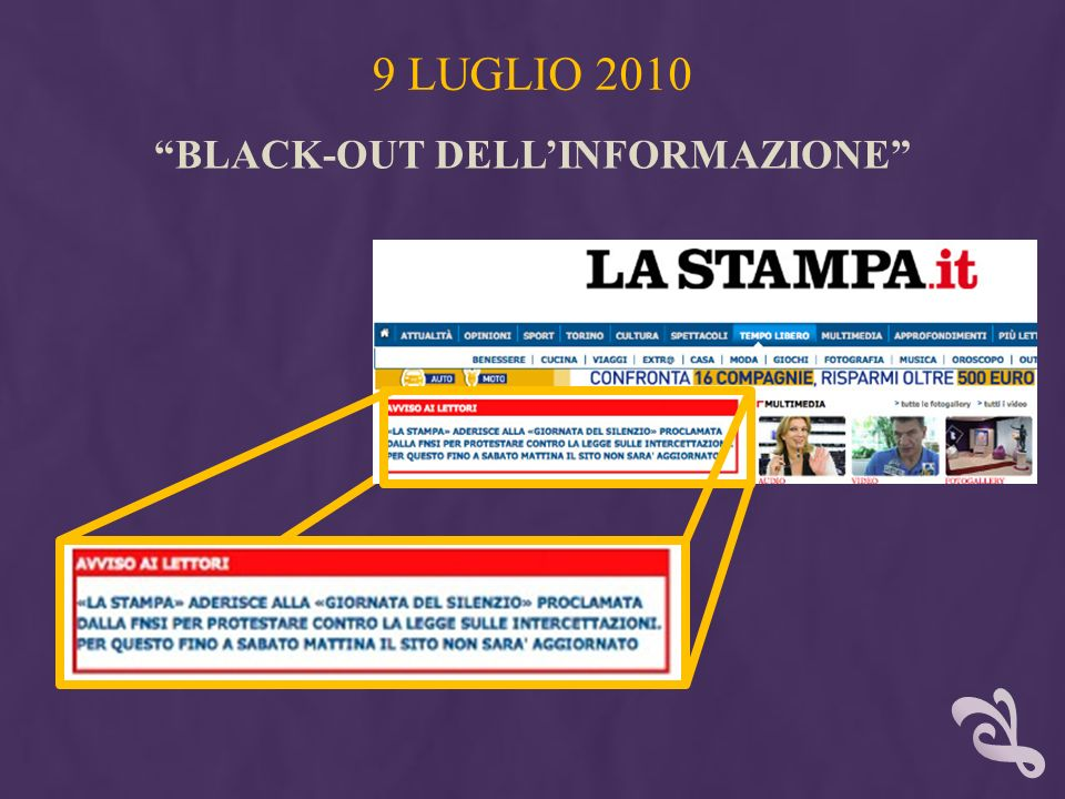 BLACK-OUT DELL'INFORMAZIONE