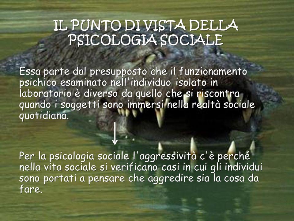 IL PUNTO DI VISTA DELLA PSICOLOGIA SOCIALE