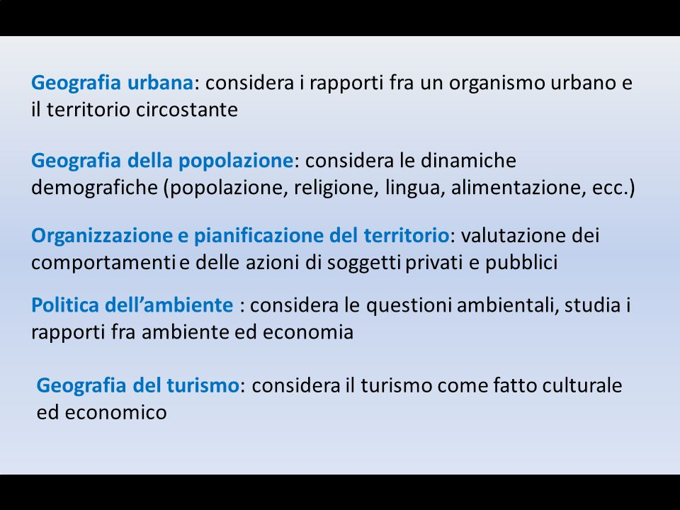 Geografia urbana: considera i rapporti fra un organismo urbano e il territorio circostante