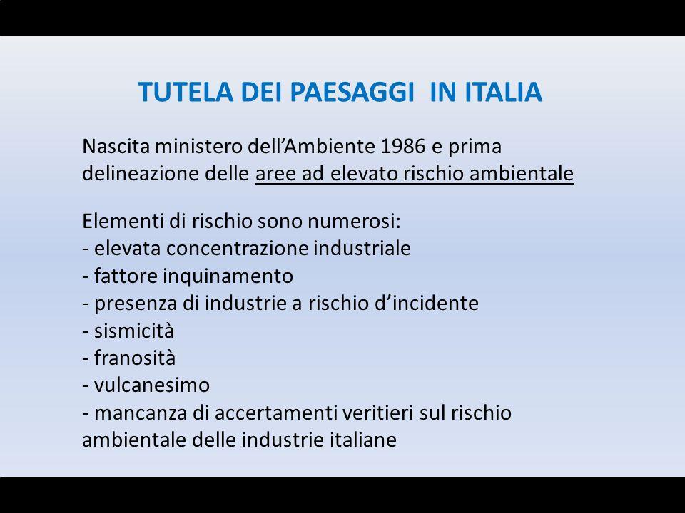 TUTELA DEI PAESAGGI IN ITALIA