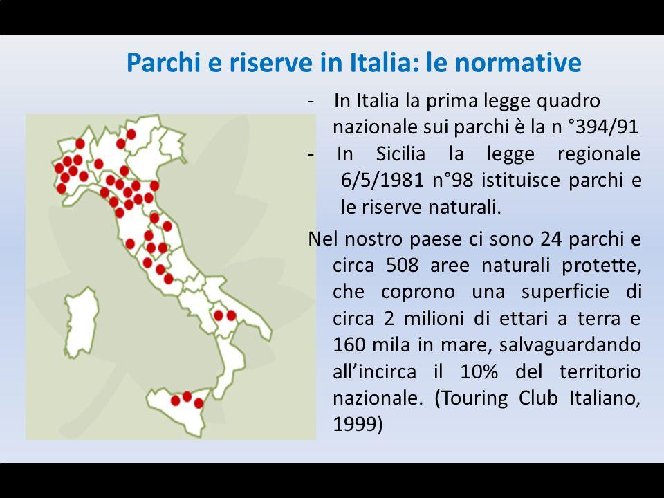Parchi e riserve in Italia: le normative