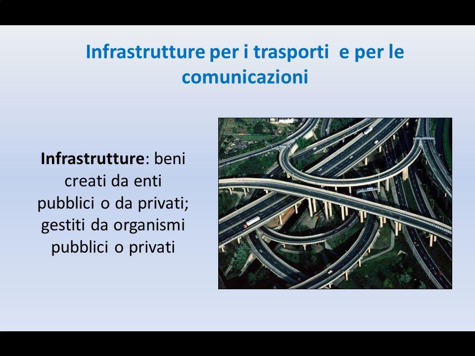 Infrastrutture per i trasporti e per le comunicazioni