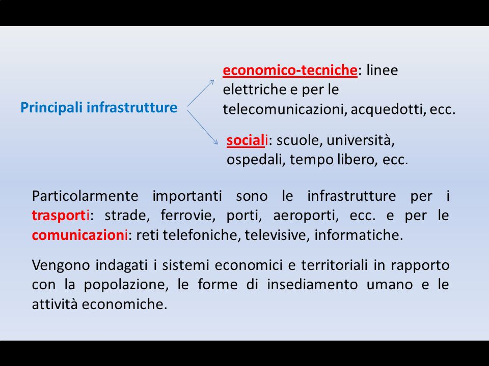 economico-tecniche: linee elettriche e per le telecomunicazioni, acquedotti, ecc.