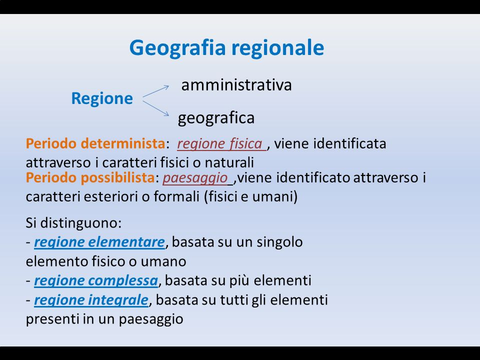 Geografia regionale amministrativa Regione geografica