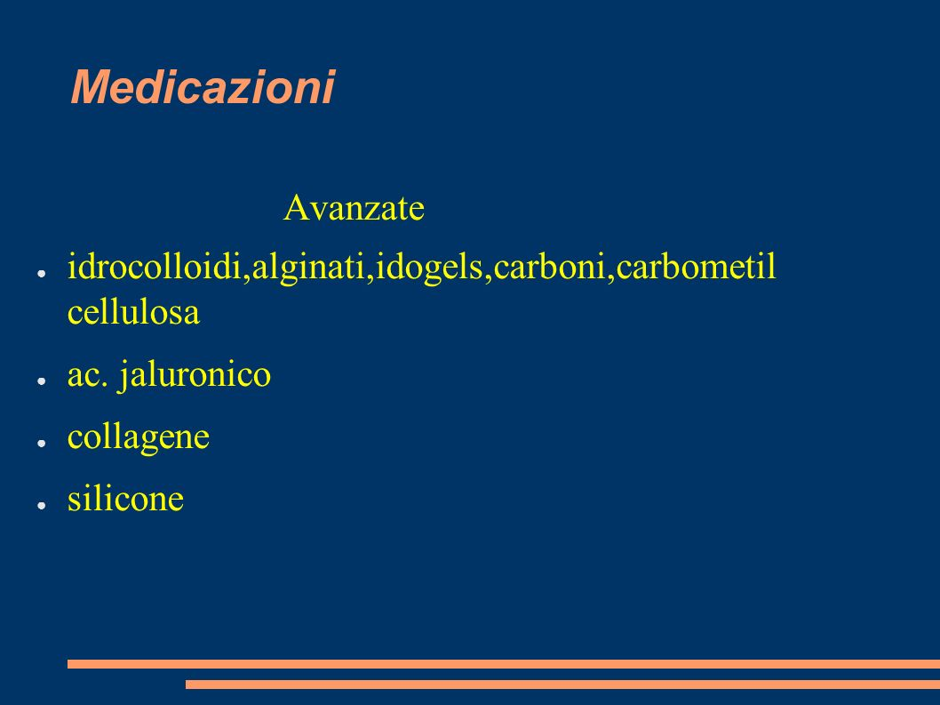 Medicazioni idrocolloidi,alginati,idogels,carboni,carbometil cellulosa