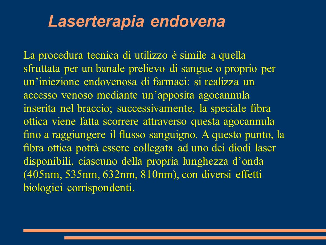 Laserterapia endovena