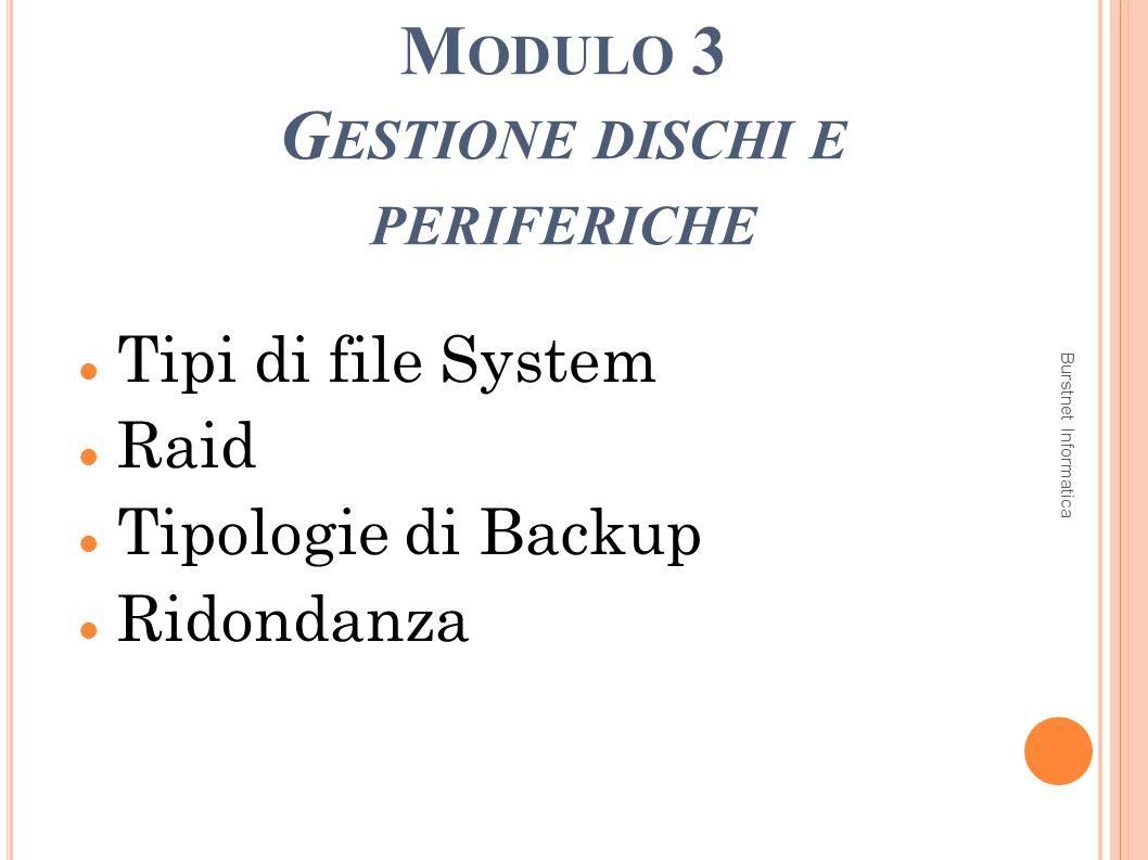 Modulo 3 Gestione dischi e periferiche