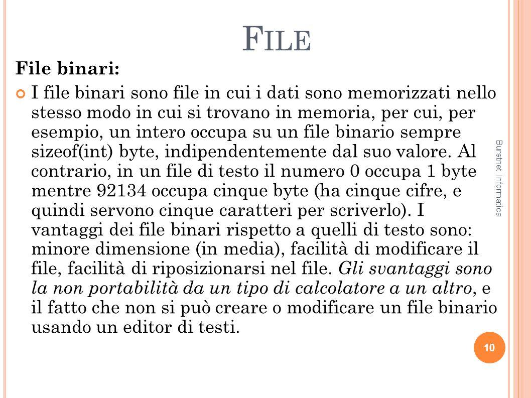 File File binari: